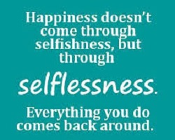 Selfishness and selflessness