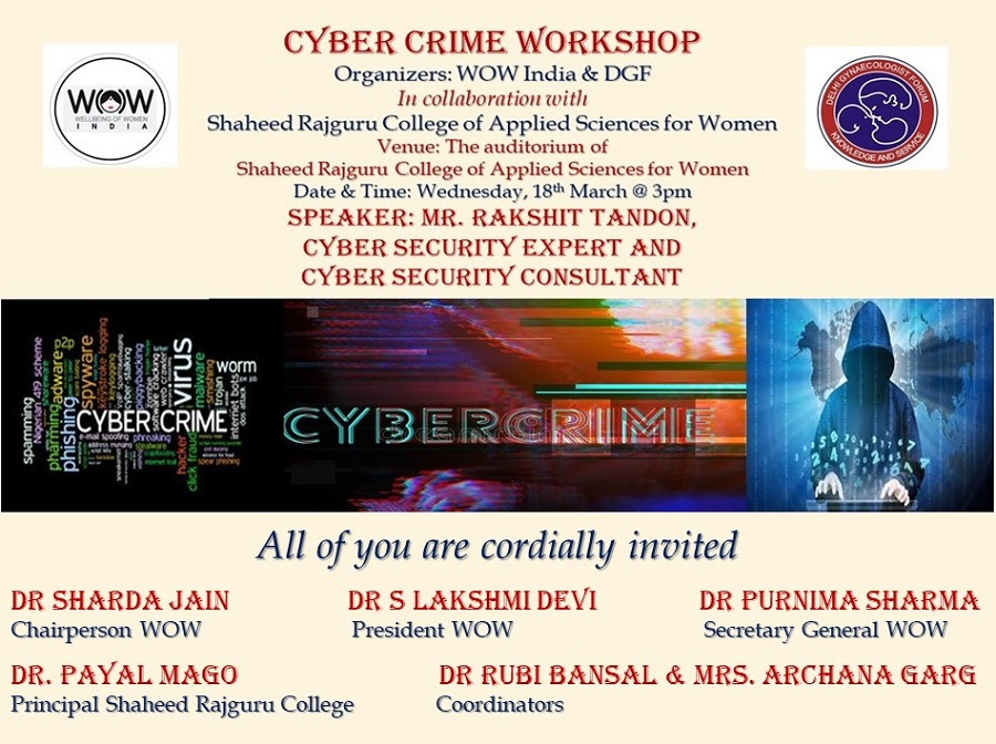 New Event - Cyber crime Workshop